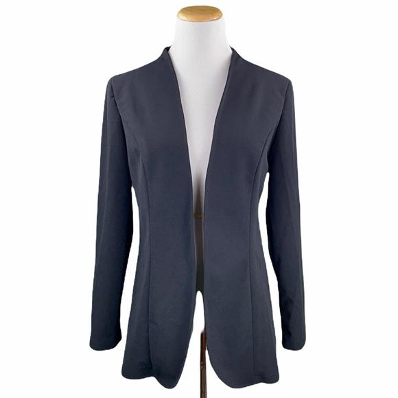 Shein Black Open Front Long Sleeve Blazer Jacket